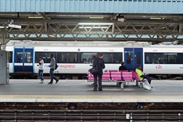 Passengers at Barking railway station