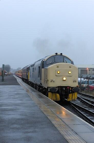 37674's first passenger train