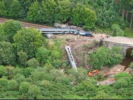 Stonehaven derailment on August 12 2020