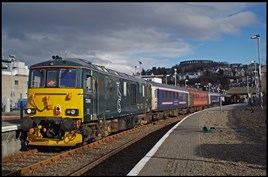 GBRf 73968 at Oban on February 14. CHRIS WILLIAMS.