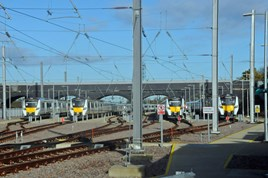 From left to right: 700116, 700111, 700128 and 700125 at Peterborough Spittal Sidings on November 5. JOHN RUDD.