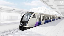 The exterior of the Class 345s Bombardier will deliver to Crossrail. TRANSPORT FOR LONDON.