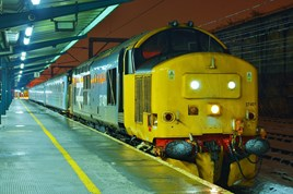 DRS 37401 Mary Queen of Scots stands at Carlisle on January 16, with the 1732 from Barrow. TOM DUMELOW.