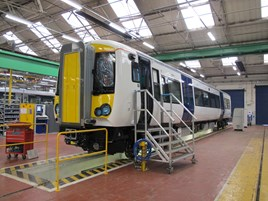 A c2c Class 387 under construction. C2C.