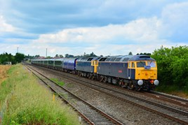 ROG 47848 and 47812 at Eckington on June 18, with the 0515 Kilmarnock-Laira. STEVE WIDDOWSON.