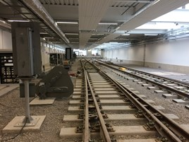 Inside the new Network Rail/SWT training centre. PAUL CLIFTON.
