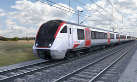 An artist's impression of a Greater Anglia five-car Aventra. GREATER ANGLIA.