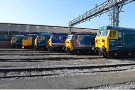 From left to right: 50050, 50049, 50044, 50026, 50017 and 50007. RICHARD CLINNICK.