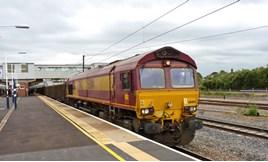 DB 66014 at Peterborough. RICHARD CLINNICK.