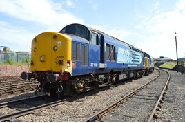 DRS 37510 at Barrow Hill on July 10 2015. RICHARD CLINNICK.