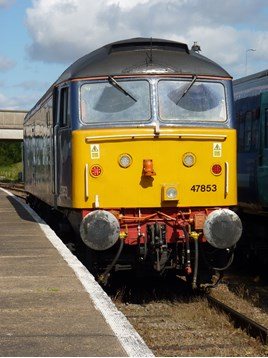 47853 at Great Yarmouth on August 23 2014. RICHARD CLINNICK.