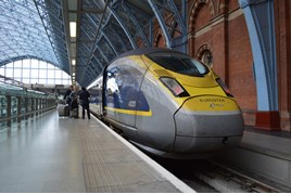 Eurostar 374020 at St Pancras International on June 3. RICHARD CLINNICK.