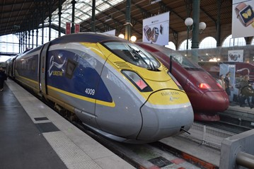 Eurostar 374009 at Paris Gare Du Nord on June 3. RICHARD CLINNICK.