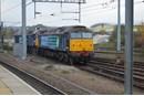 DRS 57008 leads 57306 into Norwich.