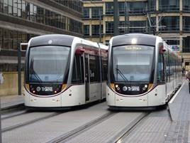 Edinburgh Trams at Haymarket on June 5 2014. RICHARD CLINNICK.