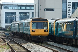 Pacers at Cardiff Central. PAUL BIGLAND/RAIL.