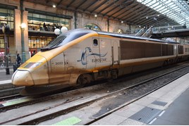Eurostar 373022 at Paris Gare Du Nord on June 3. RICHARD CLINNICK.