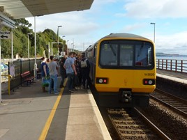First Great Western 143620 at Dawlish on September 26 2014. RICHARD CLINNICK.