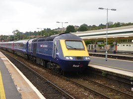 FGW 43176 enters Exeter St Davids on October 3 2014. RICHARD CLINNICK.