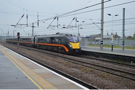 Grand Central 180112 at Peterborough on May 10. RICHARD CLINNICK.