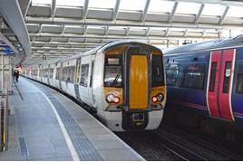 GTR 387109 at London Blackfriars on May 24. RICHARD CLINNICK.