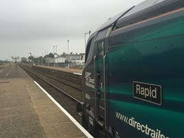 DRS 68004 Rapid at Lowestoft on September 16. RICHARD CLINNICK.
