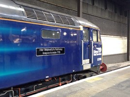Direct Rail Services 57306's new nameplate. STEFANIE BROWNE.
