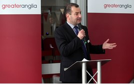 Greater Anglia Managing Director Jamie Burles. ANTONY GUPPY.
