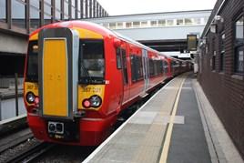 Gatwick Express 387201 on test at Gatwick Airport. JULIAN GAJEWSKI.