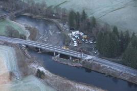An aerial view of Lamington Viaduct. NETWORK RAIL.