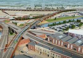 An artist's impression of the Ordsall Chord. NETWORK RAIL.