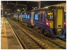 ScotRail 385001 at Linlithgow on October 18. SCOTRAIL.