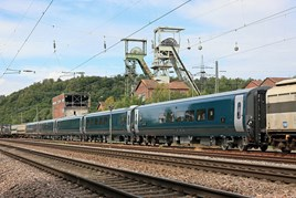The five Caledonian Sleeper Mk 5s on their way from Hendaye (France) to Velim in the Czech Republic. CALEDONIAN SLEEPER.