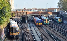 Trains pass at Clapham Junction on October 22 2014. MARK PIKE.