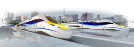 An artist's impression of Alstom's Very High Speed Train. ALSTOM.