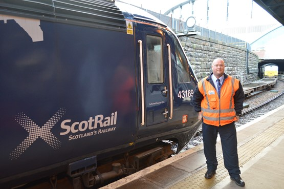 In the cab of a ScotRail HST