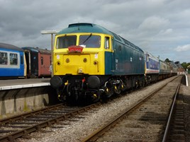 47367 and 47596 at Dereham on August 29 2014. RICHARD CLINNICK.