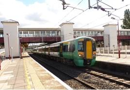 Southern 377215 at Harrow & Wealdstone on September 18 2014. RICHARD CLINNICK.
