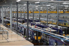 Class 385s in Hitachi Rail Europe's Newton Aycliffe facility. RICHARD CLINNICK.