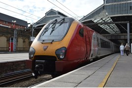 Virgin Trains 221114 at Preston on July 20. RICHARD CLINNICK.