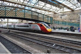 Virgin Trains 390039 at Carlisle on July 20 2015. RICHARD CLINNICK.