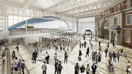 Artist's impression of a revamped London Waterloo. NETWORK RAIL.